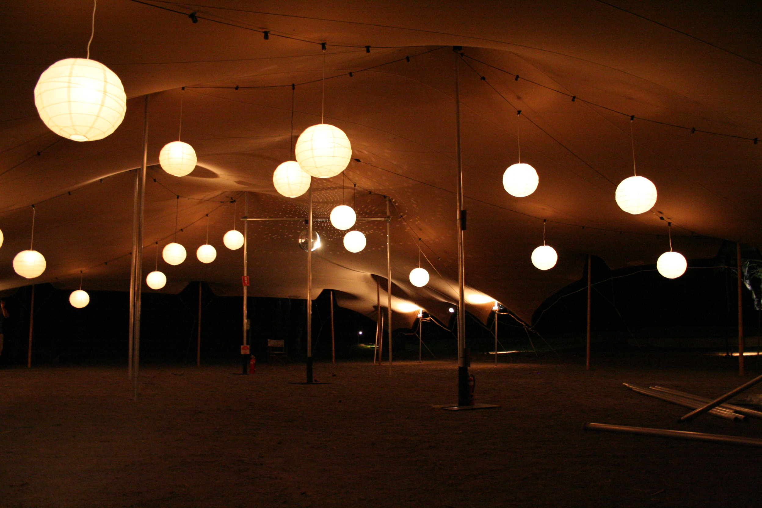 Bedouin Stretch Tent with lights