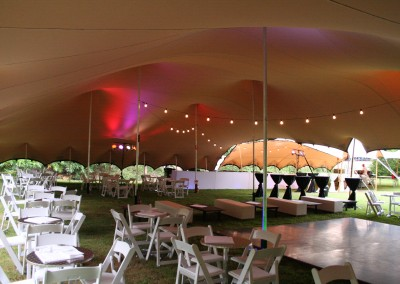 large Freeform Marquee with lights